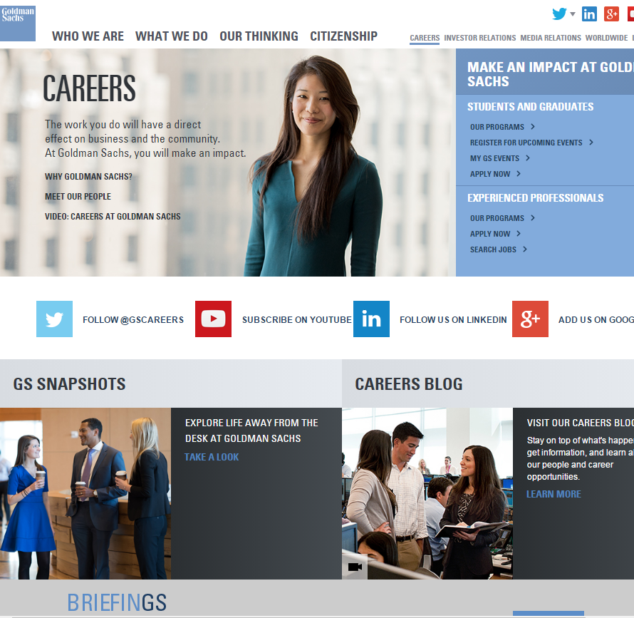 best-company-career-sites-glodmansachs-ongig