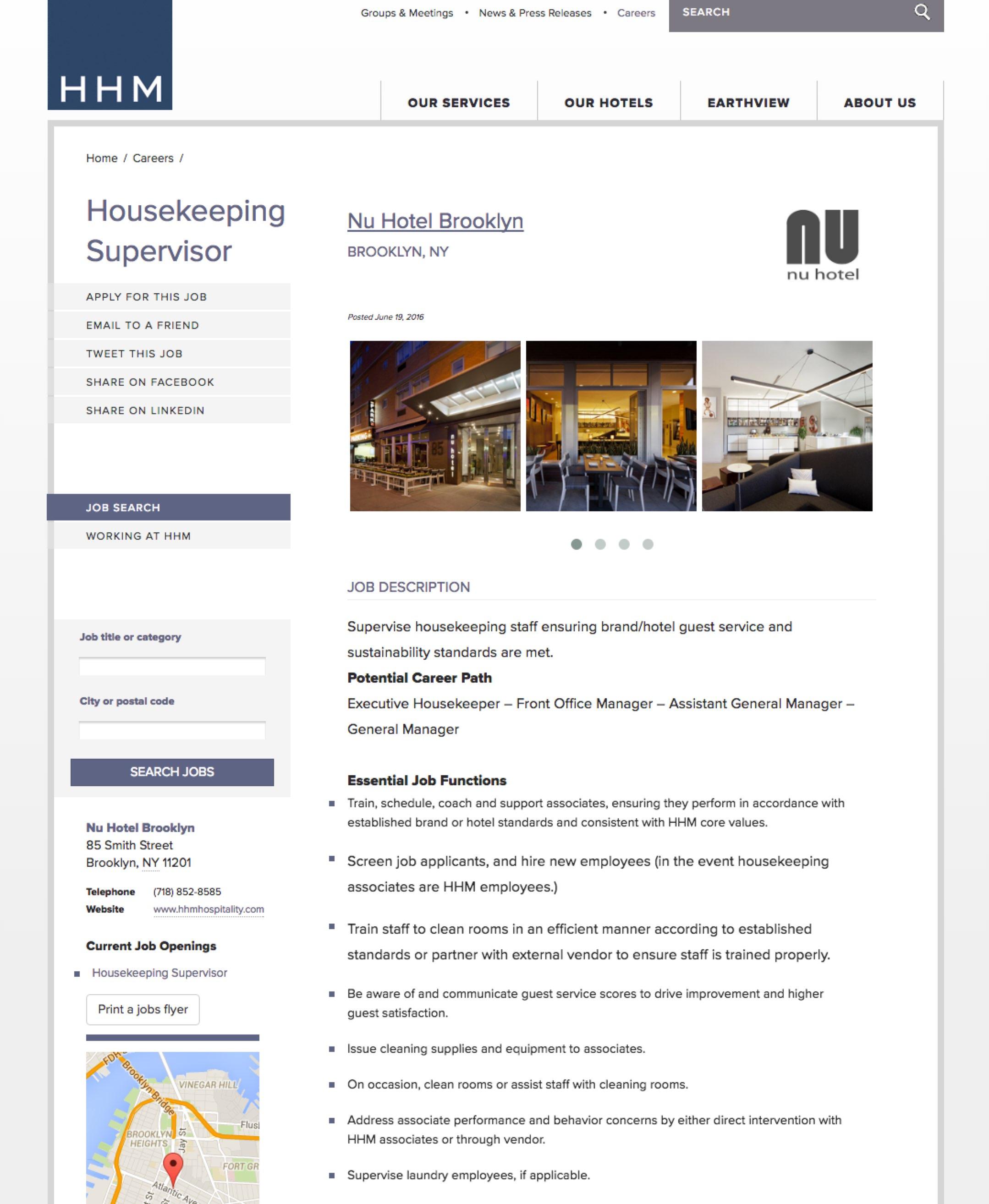 Best Job Descriptions Hotel HHM Sample Ongig Blow