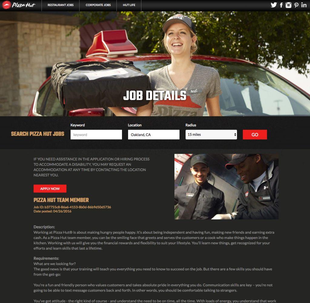 Best Job Descriptions Sample Pizza Hut Ongig Blog