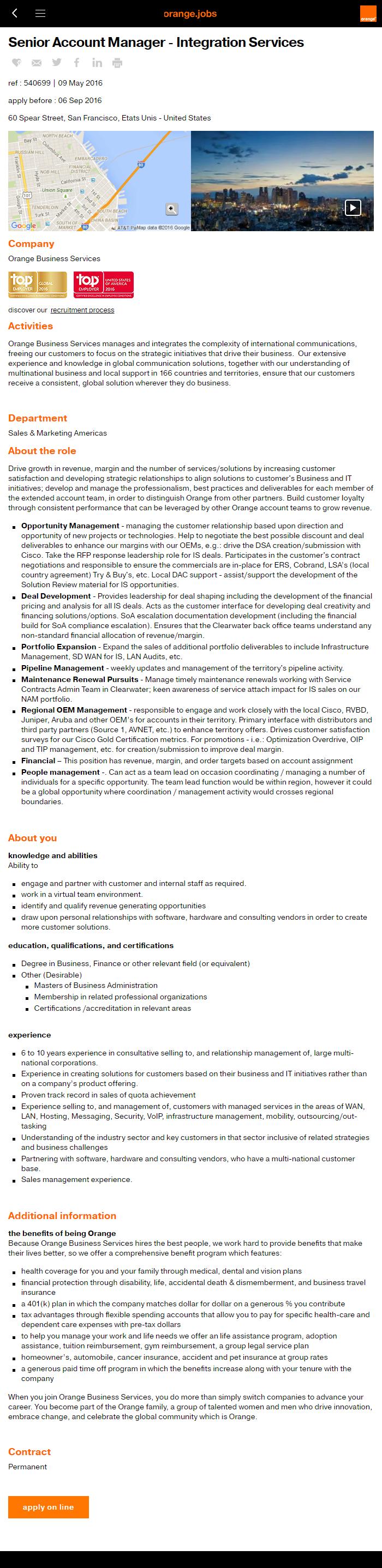 Best Job Descriptions Sample Orange.jobs - Ongig