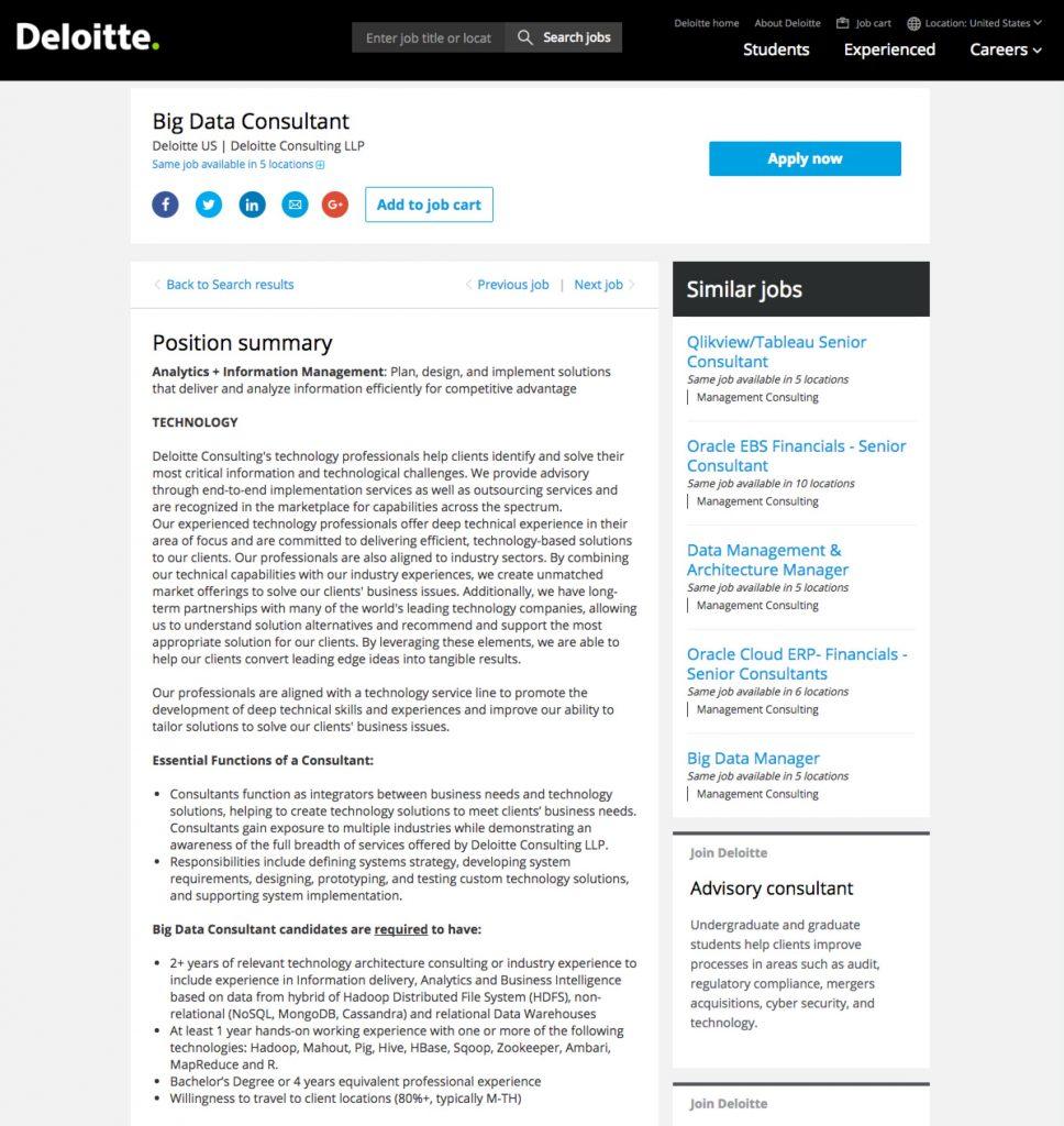 Sample Best Job Descriptions Deloitte Ongig Blog