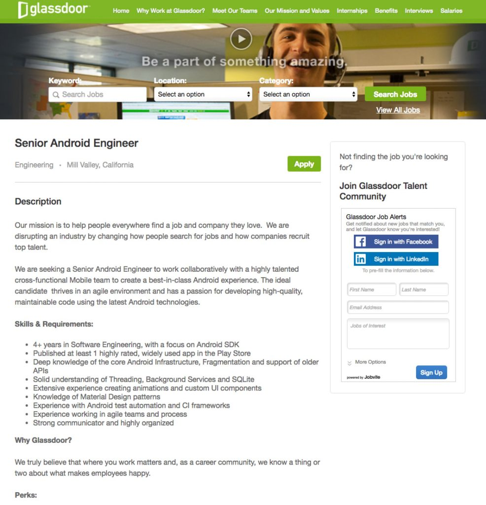 Sampe Job Description with Video | Glassdoor | Ongig