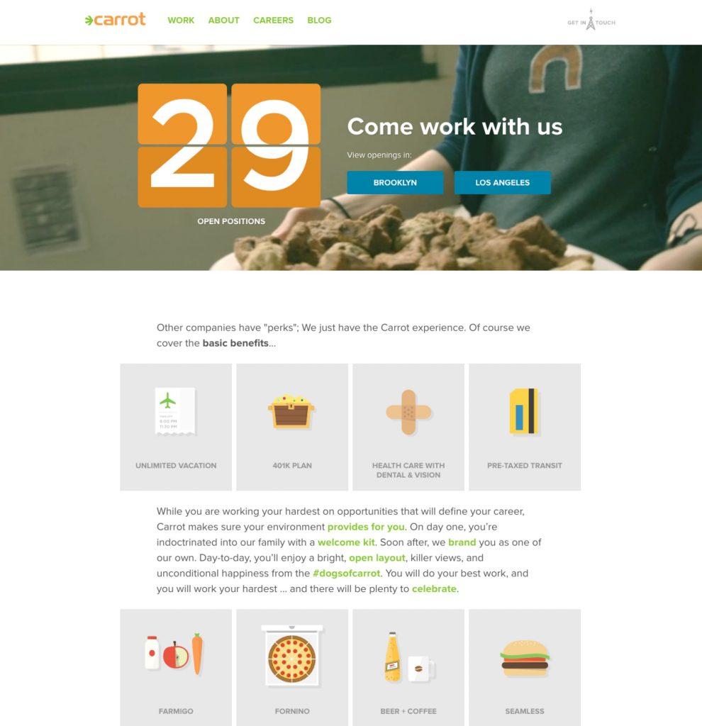 carrot company career site ongig blog