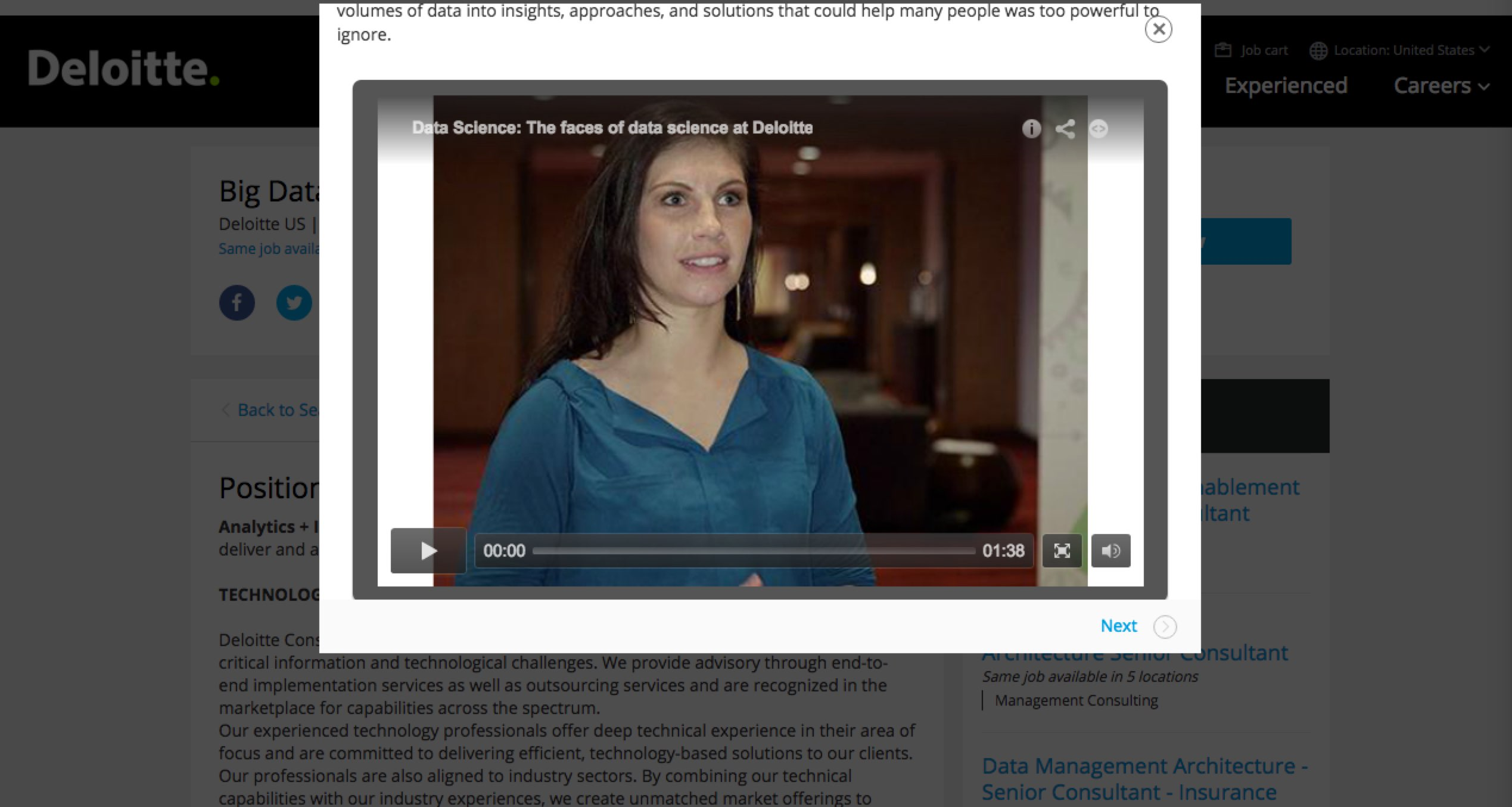 Video Job Description Deloitte Sample | Ongig