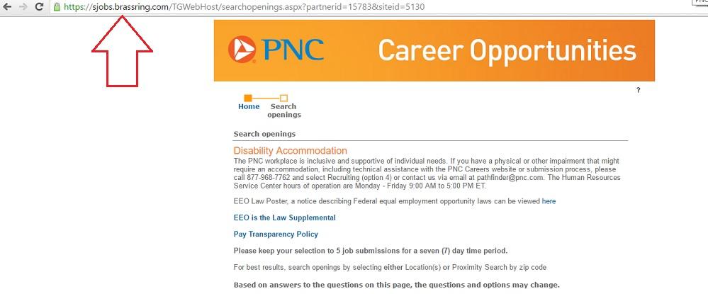PNC Non Branded URL Brassring Ongig Blog
