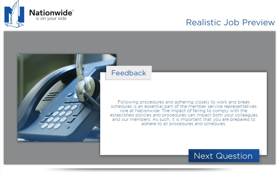 Nationwide Realistic Job Preview Q3 Answer C Ongig Blog