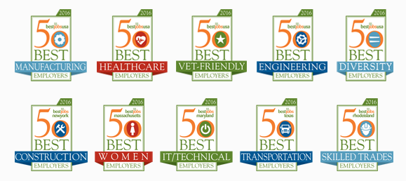 Best Employer Awards Verticals by Best Jobs USA