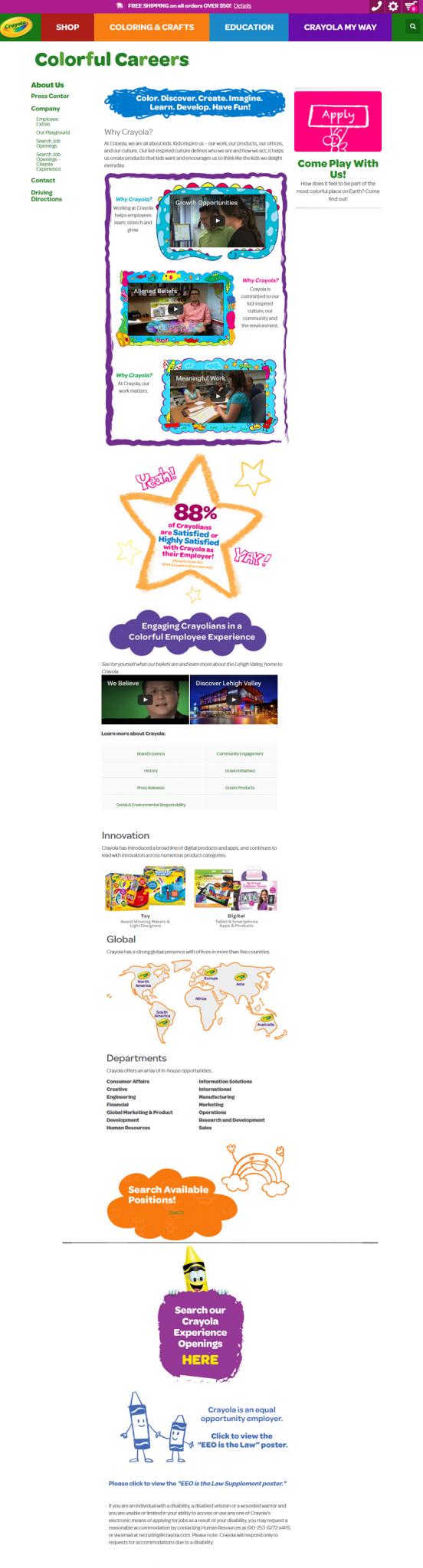 Crayola Company Career Site