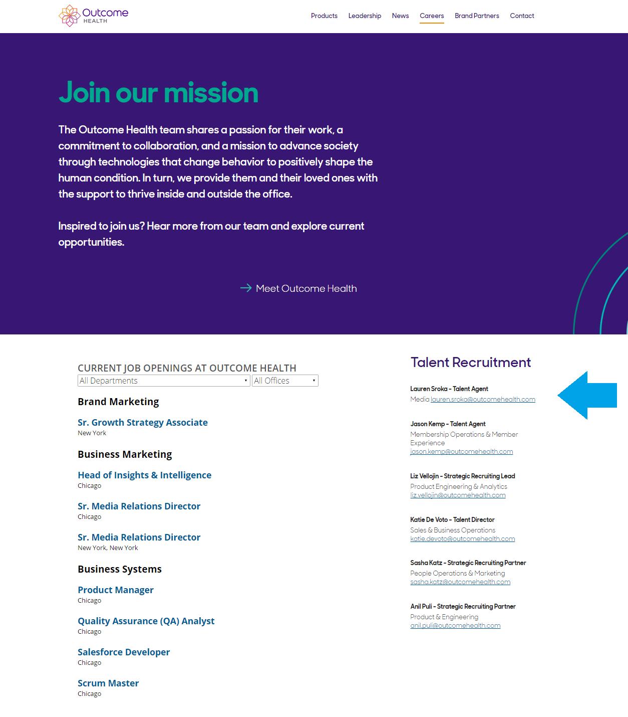 Outcome Health Company Career Site