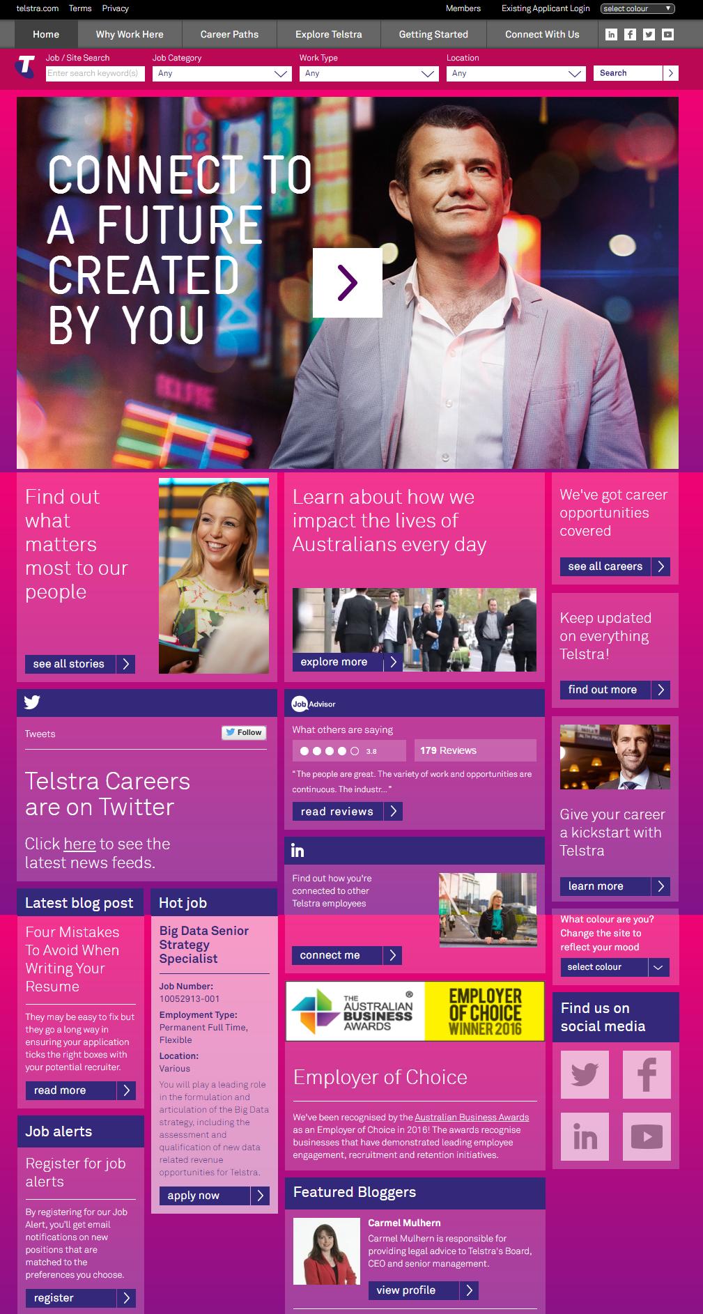 Telstra Company Career Site