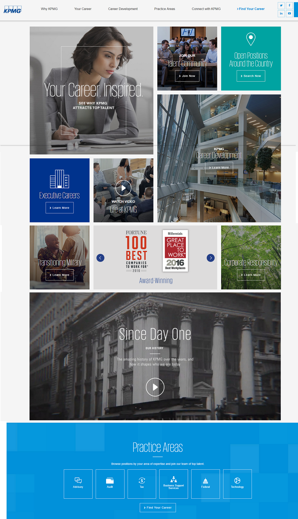 Best Company Career Site KPMG 2 - Ongig Blog