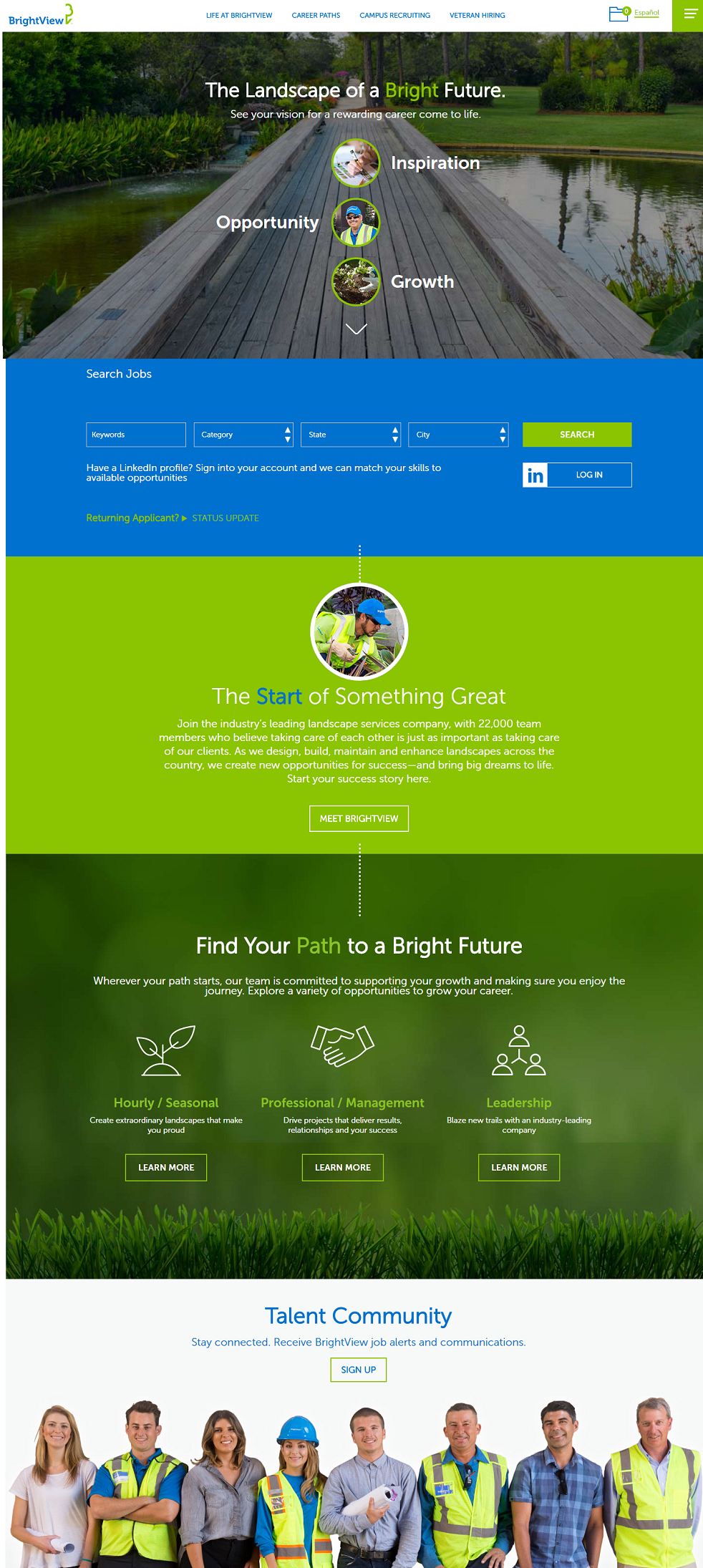 Top Company Career Site 3- Brightview