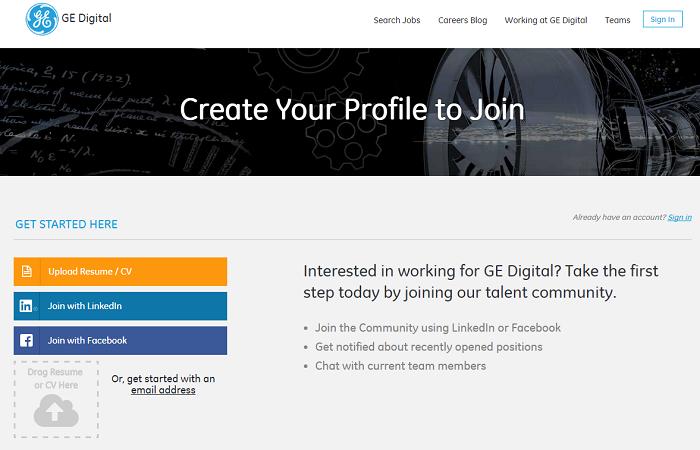 GE Digital Talent Community Landing Page