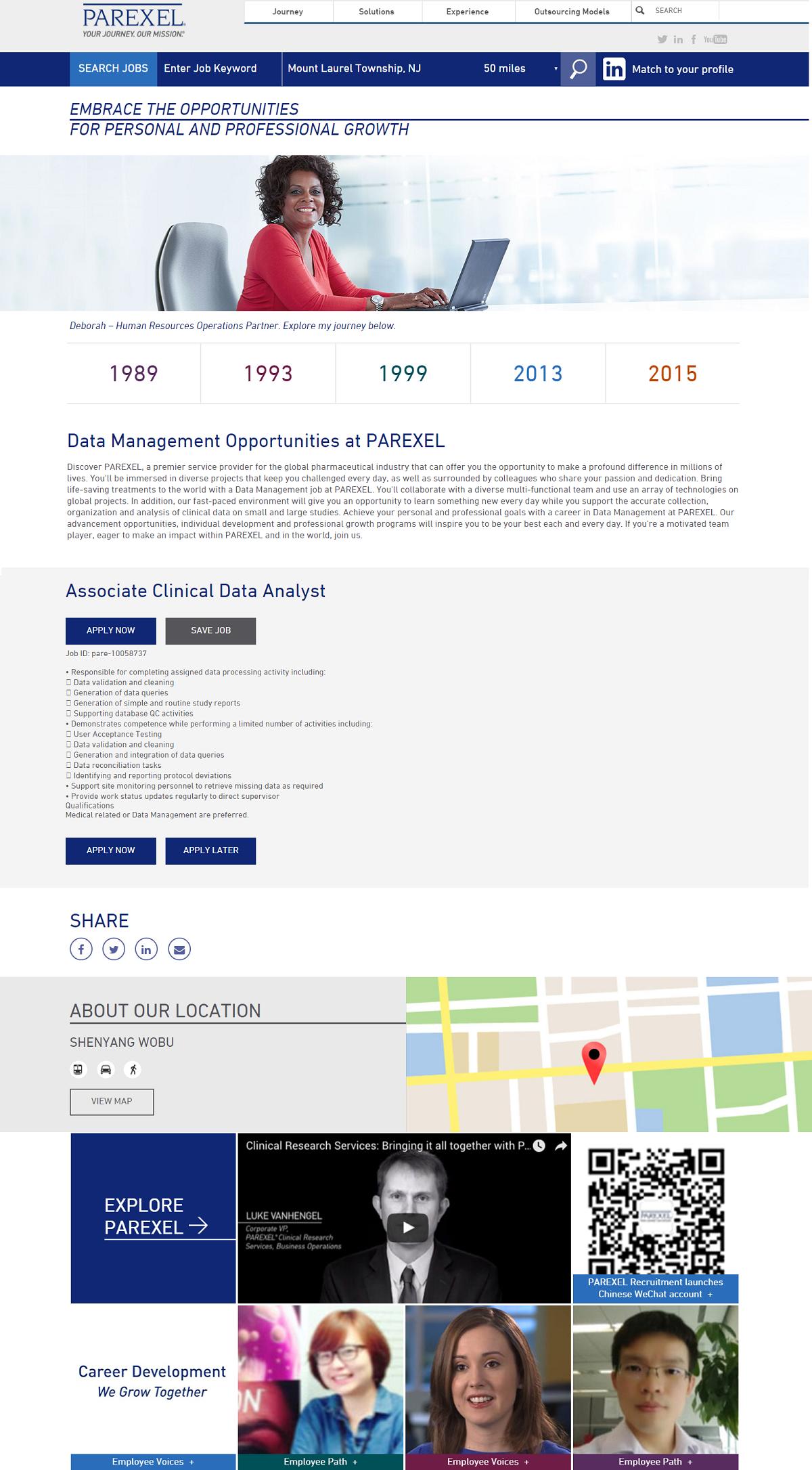 Clinical Data Analyst Job Ad Parexel