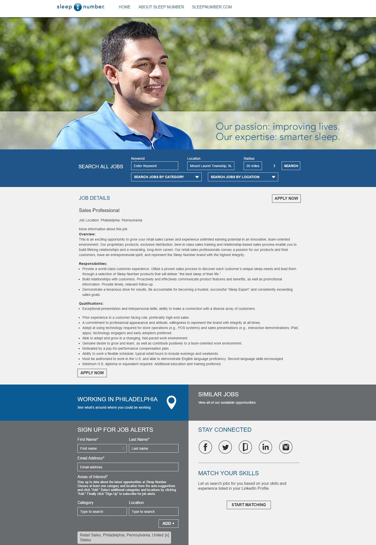 Sales Professional Job Ad Select Comfort