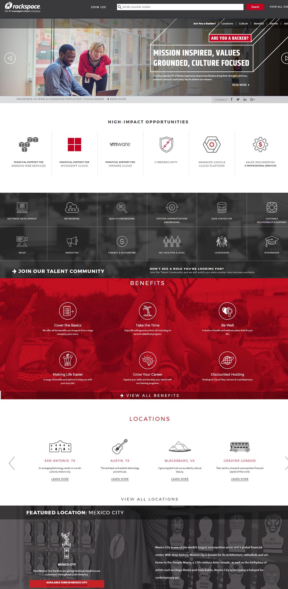 Rackspace Company Career Page