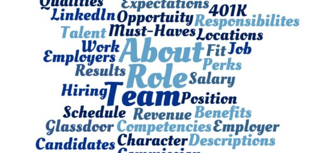 Words that are used in the best job descriptions