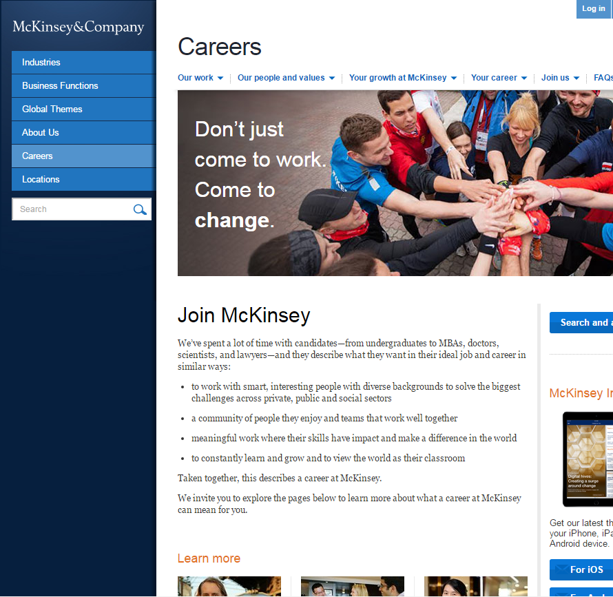 best-company-career-sites-mckinsey-ongig