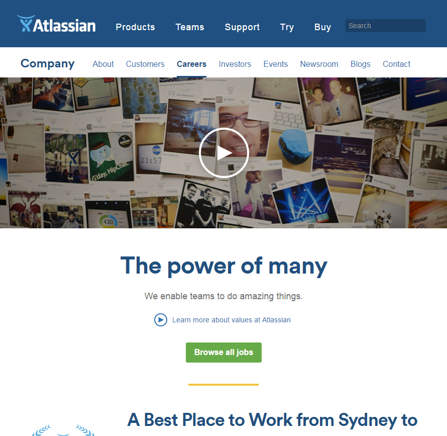 best-company-career-sites-atlassian-ongig