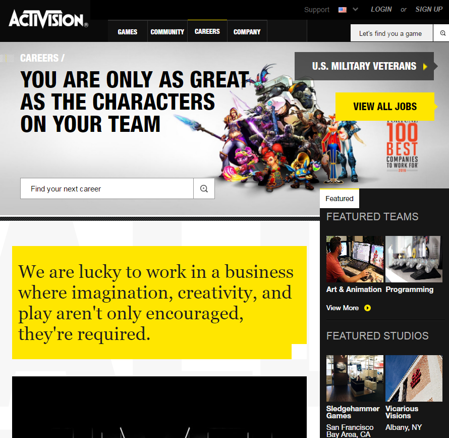 best-company-career-sites-activision-ongig