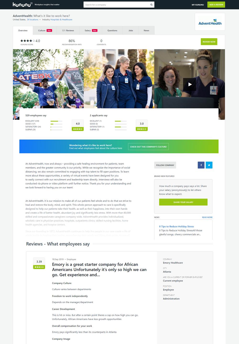 kununu employer review site