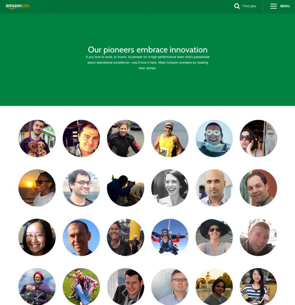 Best Company Career Sites Amazon Pioneers Ongig Blog