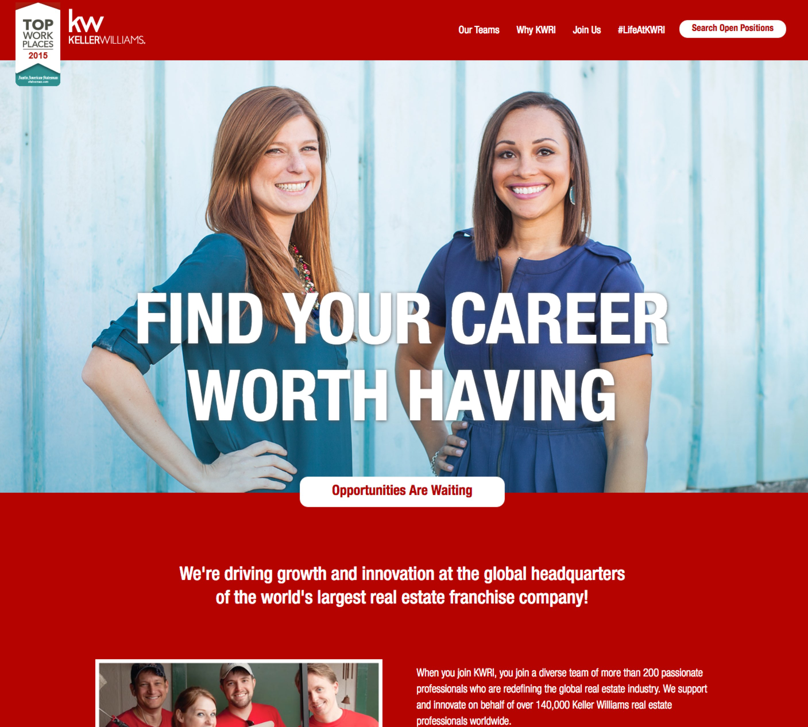 Best Company Career Site Keller Williams Ongig Blog