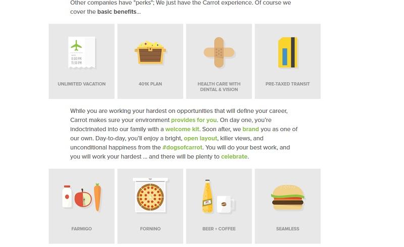 Best Company Career Site Ideas Perks Ongig