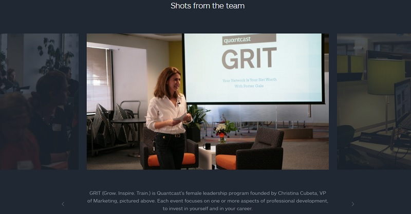 Quantcast Career Page Picture Captions