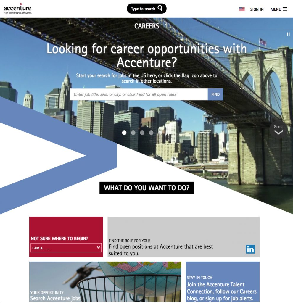 Best Company Career Sites Accenture | Ongig Blog