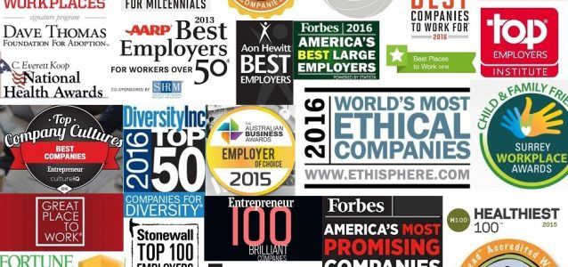 Top employer of choice awards logos