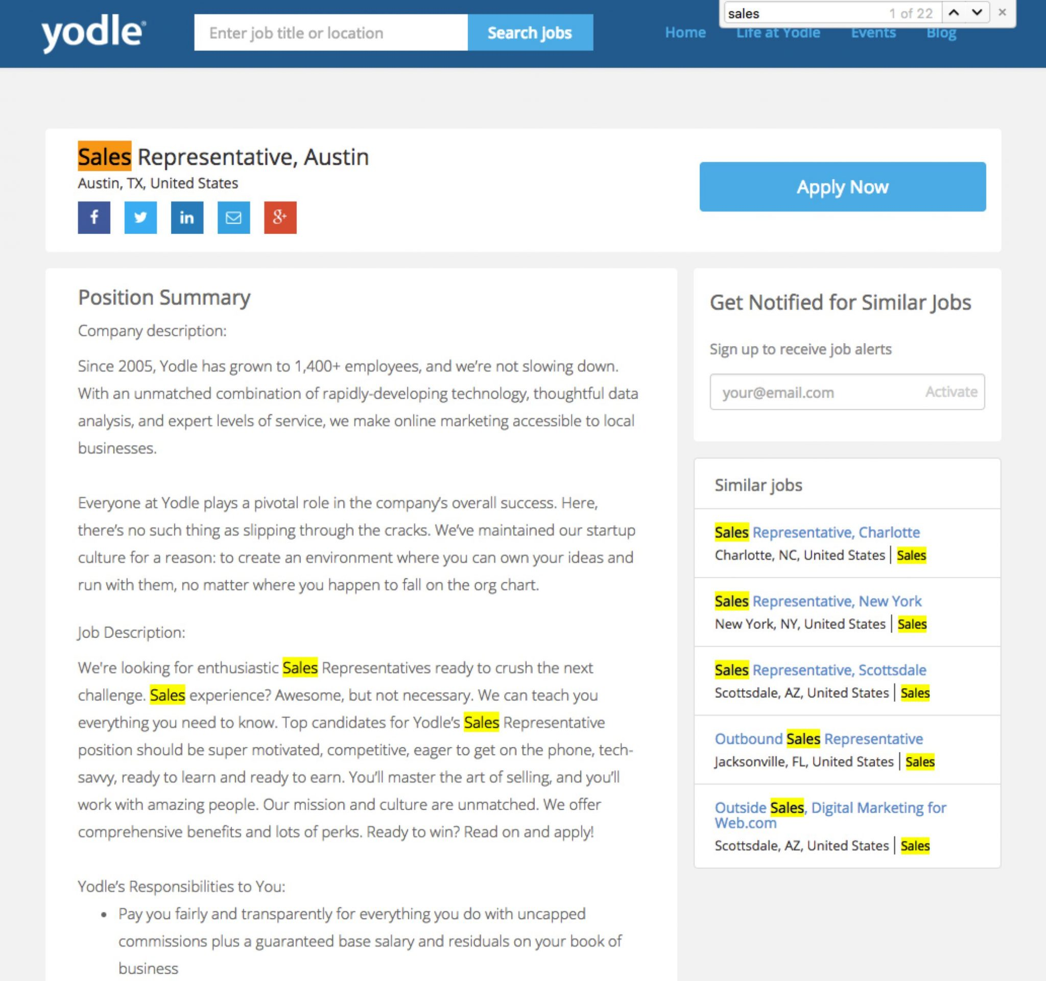 Recruitment-SEO-yodle-sales-rep-job-description-p-1-ongig-blog
