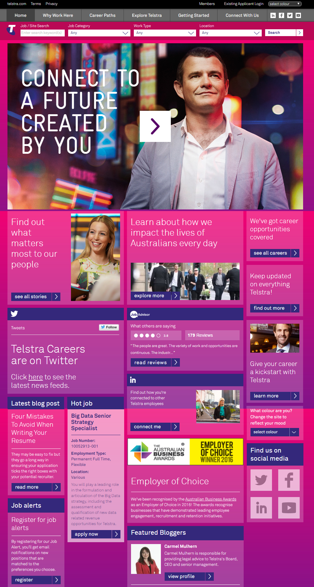 Telstra Company Career Site