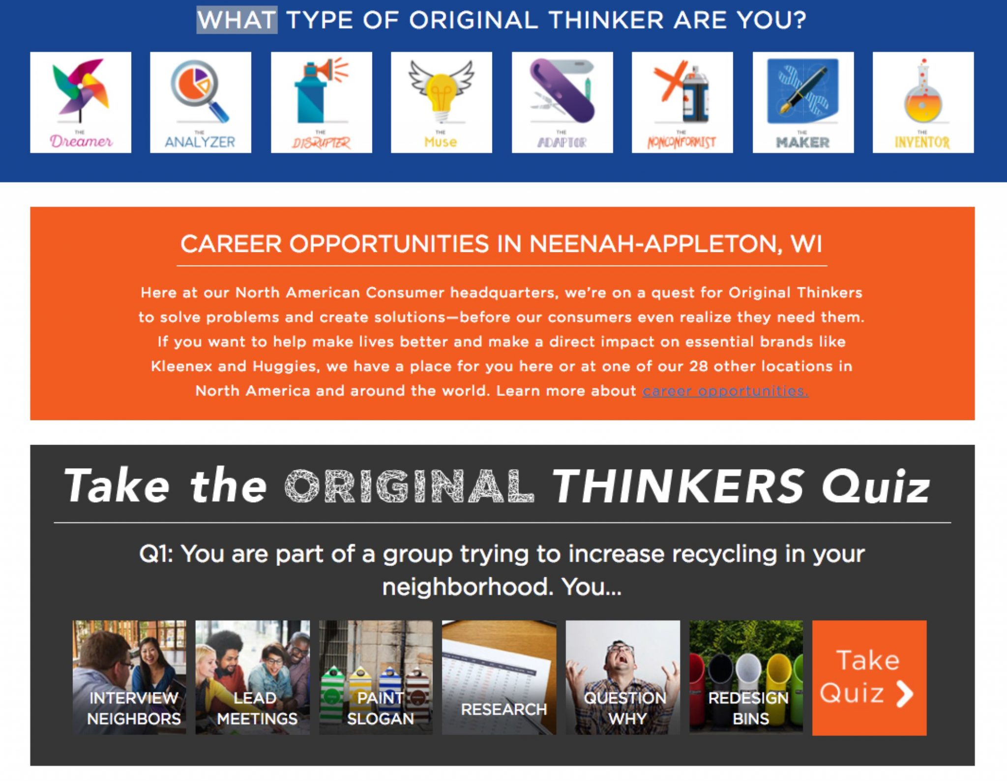 Kimberly-Clark Launches Career Personality Test to Attract