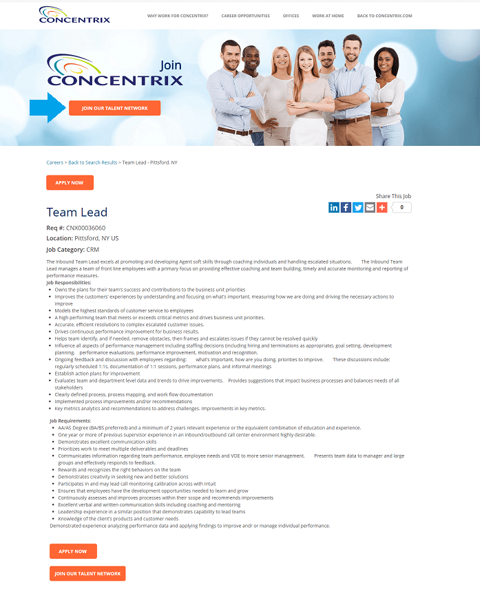 Concentrix Talent Community Opt In