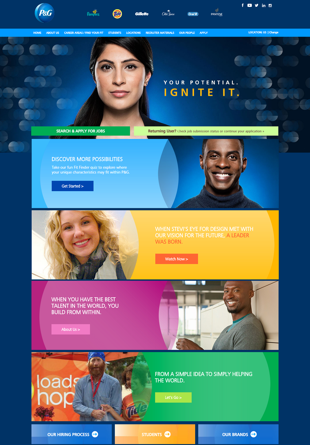 Best Company Career Sites Procter & Gamble - Ongig Blog
