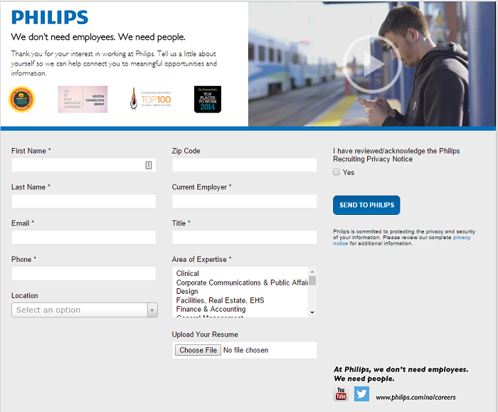 Phillips Talent Community Landing Page