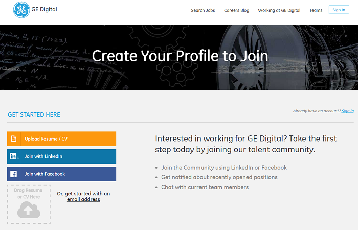 GE Digital Talent Community Landing Page