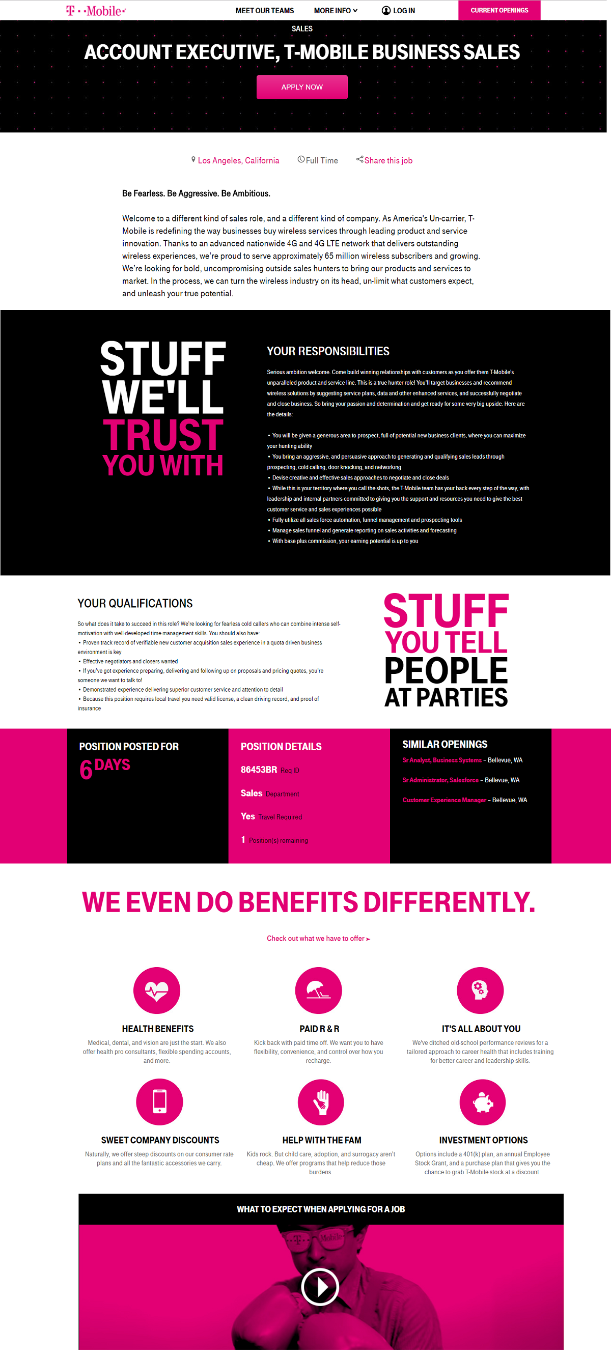 Account Executive Job Ad T-Mobile