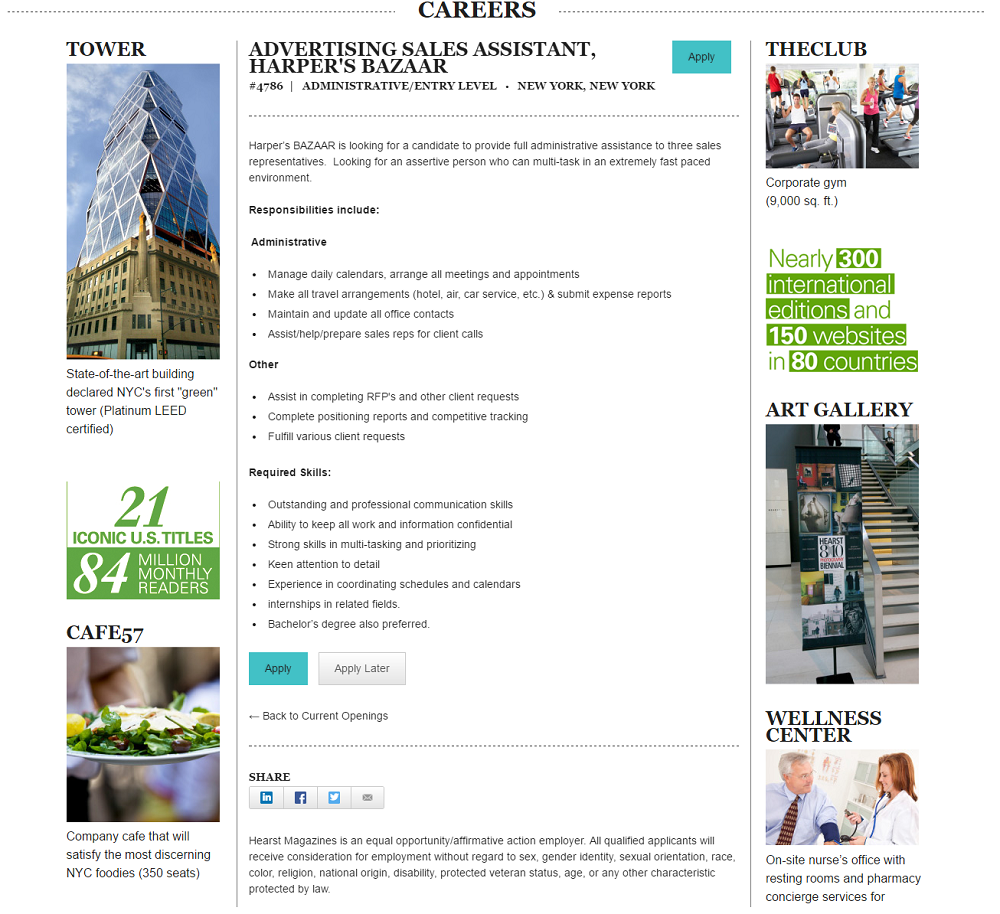 Hearst Magazine Fun Facts on Job Description