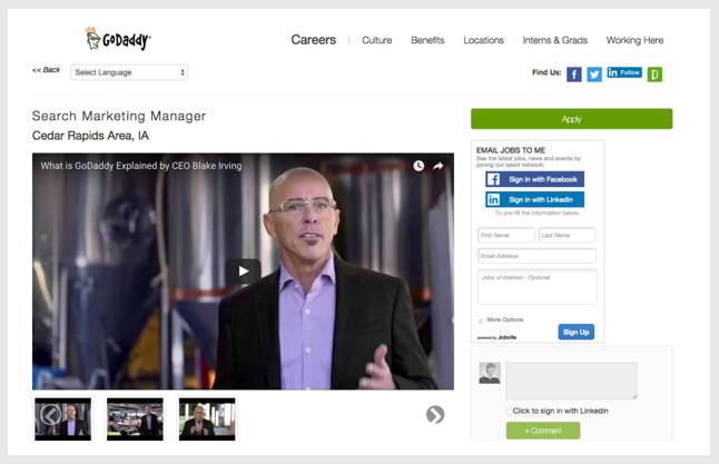 Create video job descriptions with Ongig