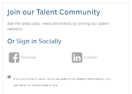 Talent Community Recruiting Widget
