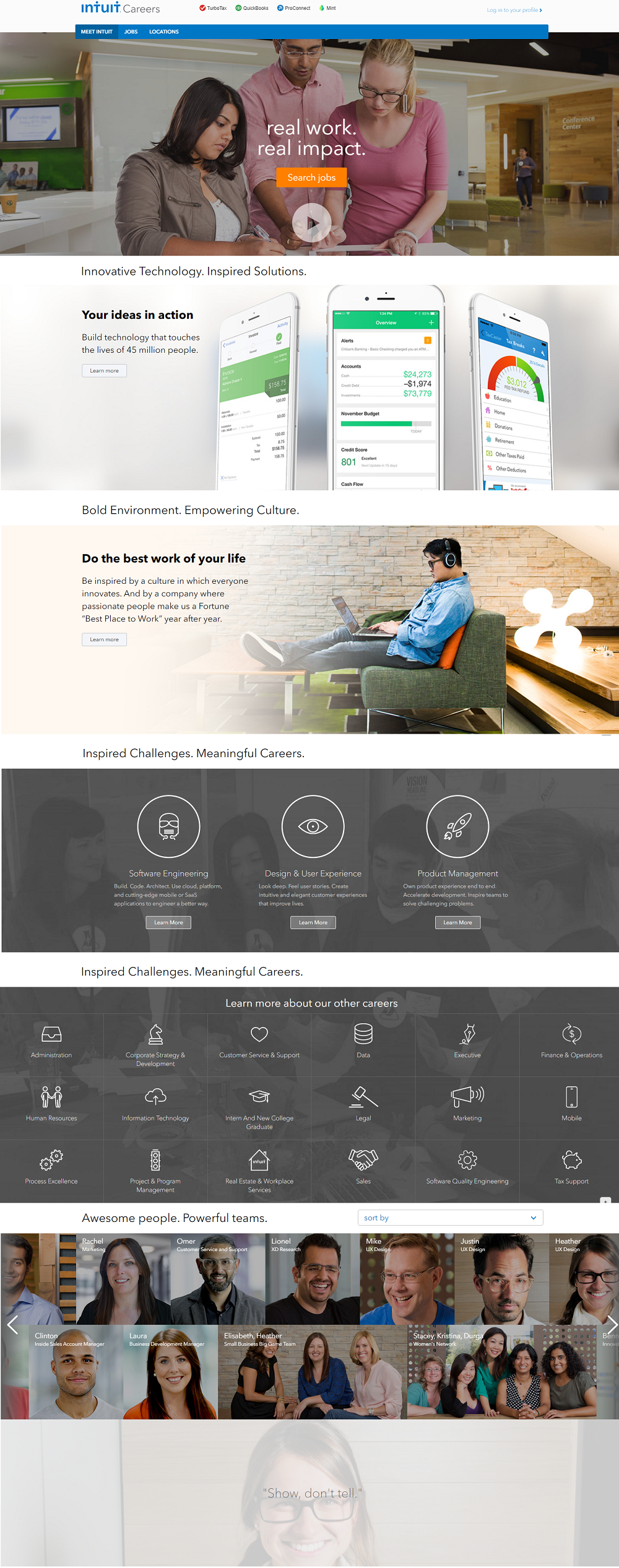 Intuit Company Career Page