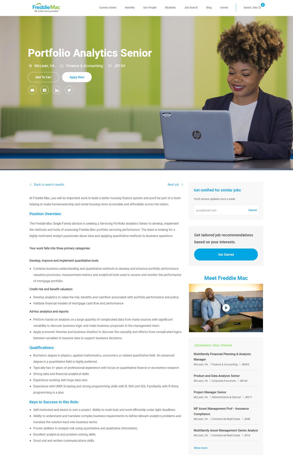 freddie mac brassring job page overlay