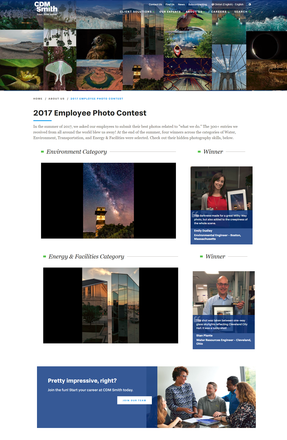 CDM Smith Employee Photo Contest