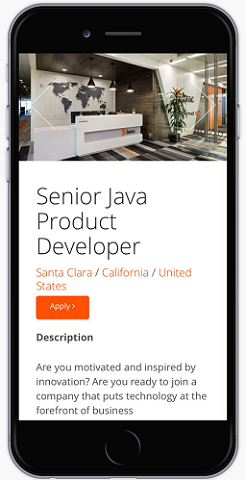 Ongig job pages are mobile friendly
