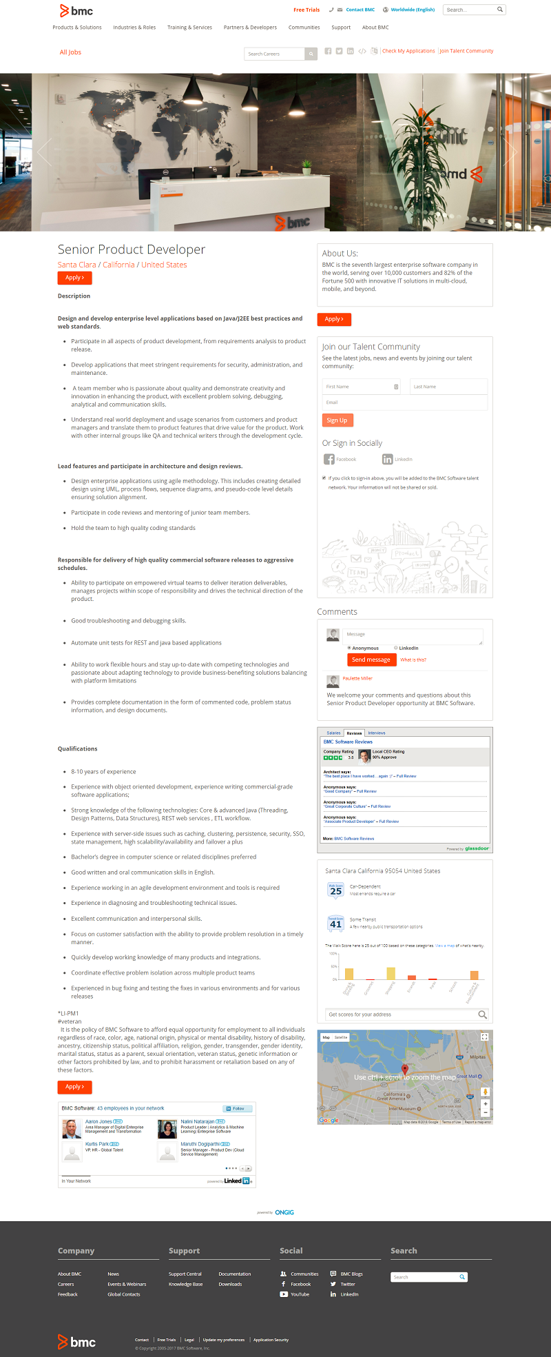 BMC Software Mini Career Site Job Description