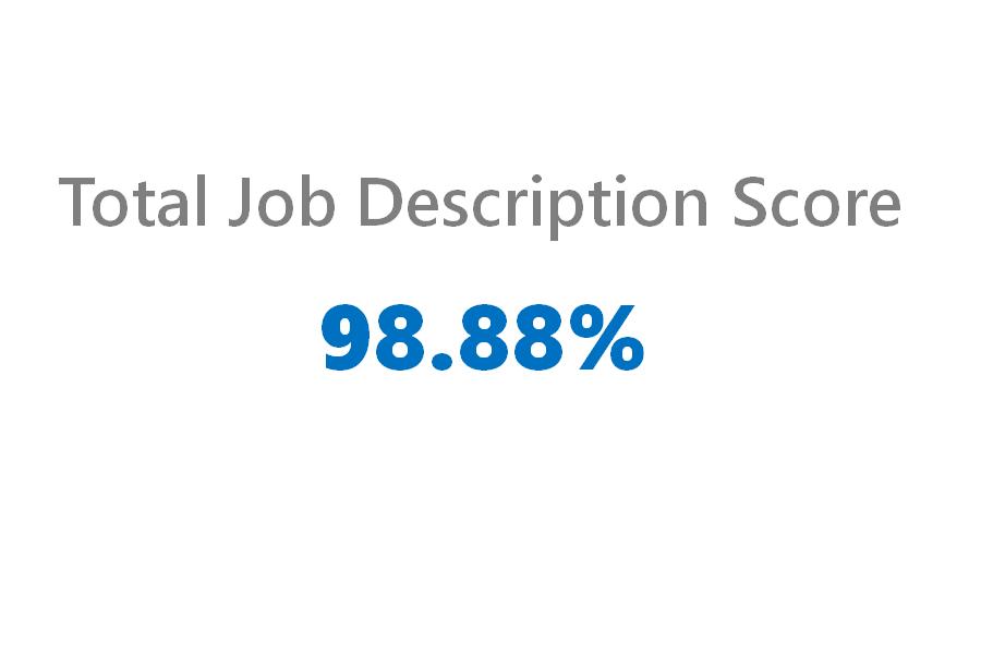 good job description writing score