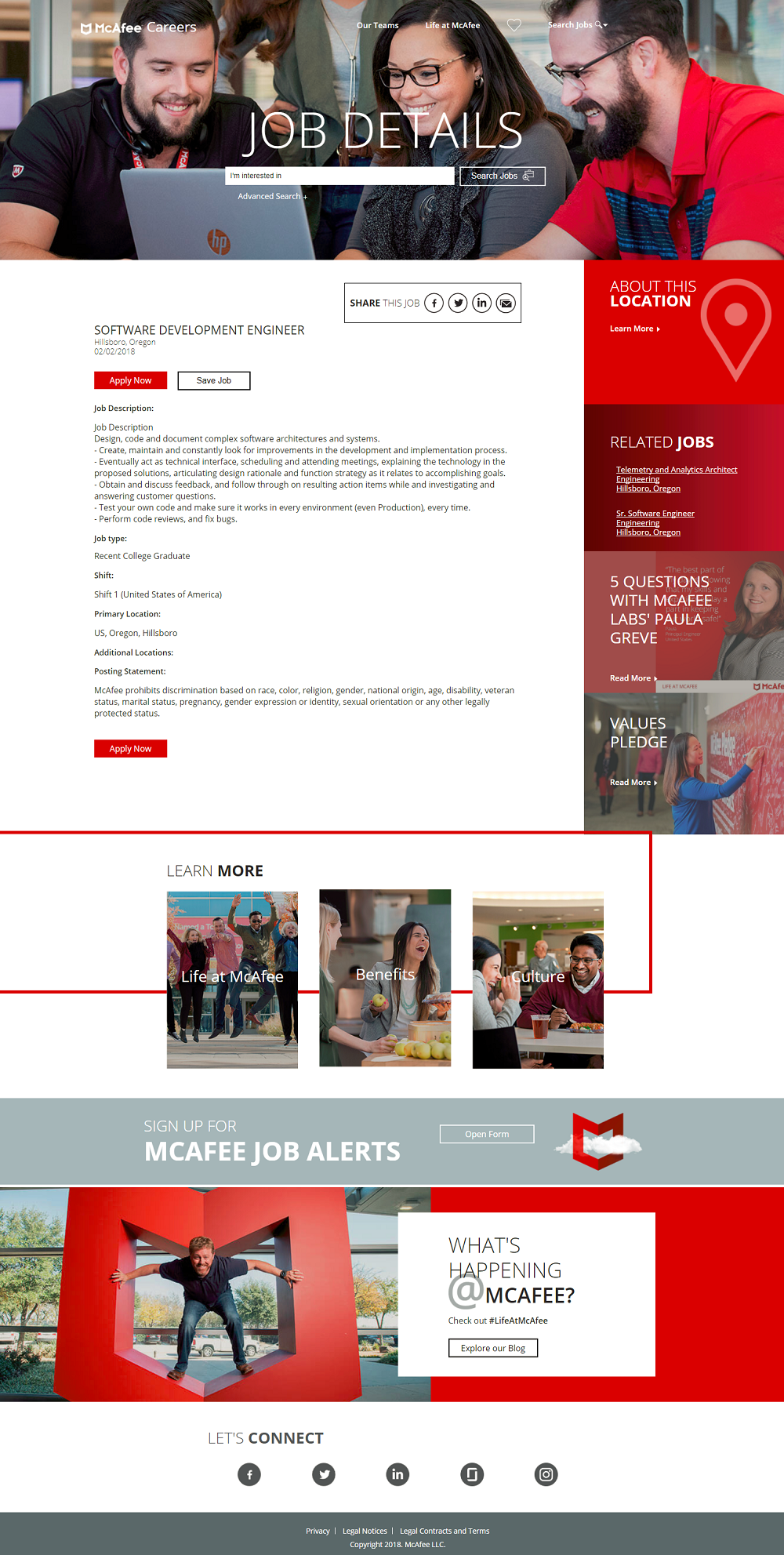 Workday ATS Job Page Overlays - McAfee