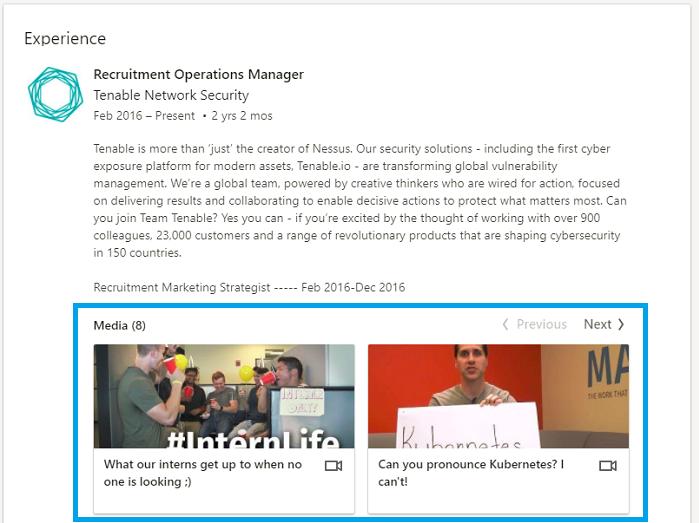 recruiter linkedin profile media